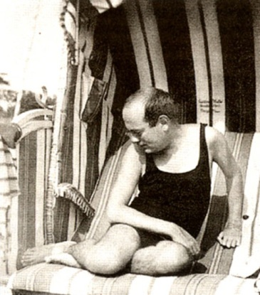 Adorno in a bathing suit